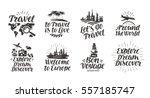 travel  journey set icons.... | Shutterstock .eps vector #557185747