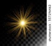 particle explosion golden... | Shutterstock .eps vector #557196463
