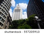 sao paulo's downtown famous... | Shutterstock . vector #557205913