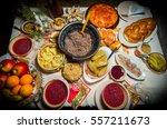 traditional ukrainian food...   Shutterstock . vector #557211673