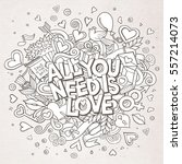 cartoon vector hand drawn... | Shutterstock .eps vector #557214073
