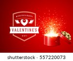 happy valentines day greeting...   Shutterstock .eps vector #557220073