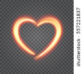heart light isolated on... | Shutterstock .eps vector #557221837