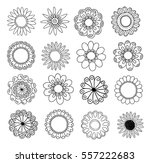 set of flower doodles | Shutterstock .eps vector #557222683