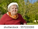 senior happy woman smiling in... | Shutterstock . vector #557223283