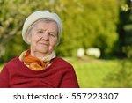 senior happy woman smiling in... | Shutterstock . vector #557223307