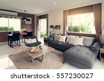 beautiful room interior with... | Shutterstock . vector #557230027