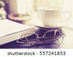 Open Book  Old Eyeglasses ...
