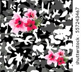 Military Print With Flowers...
