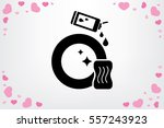 sponge detergent dish icon... | Shutterstock .eps vector #557243923