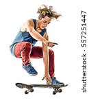 Skateboarder Young Teenager Ma...