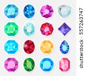 vector jewels or precious... | Shutterstock .eps vector #557263747