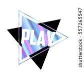 hologram triangle trendy... | Shutterstock .eps vector #557265547