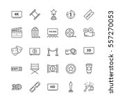 outline icons vector set  ... | Shutterstock .eps vector #557270053