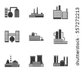 factory set icons in black... | Shutterstock .eps vector #557272213