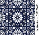 seamless blue japanese...   Shutterstock .eps vector #557272423
