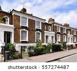 a typical terrace of small 19th ... | Shutterstock . vector #557274487