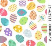 easter eggs seamless pattern....   Shutterstock .eps vector #557279437