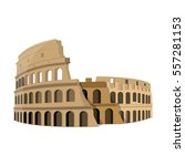 colosseum in italy icon in... | Shutterstock .eps vector #557281153