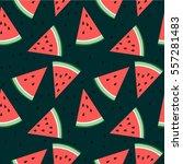 watermelon pattern   Shutterstock .eps vector #557281483