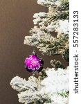 Single Purple Glass Ball On...
