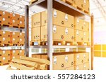 warehouse logistics  packages... | Shutterstock . vector #557284123