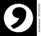 comma icon | Shutterstock .eps vector #557292553