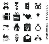 saint valentine icoins set....   Shutterstock .eps vector #557296477