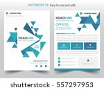 blue abstract triangle annual... | Shutterstock .eps vector #557297953
