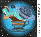 motivating illustration with... | Shutterstock .eps vector #557306317