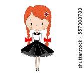 cute little girl. beautiful... | Shutterstock .eps vector #557308783