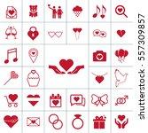 valentine icon set   Shutterstock .eps vector #557309857