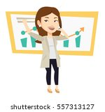 successful business woman... | Shutterstock .eps vector #557313127