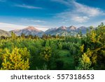 landscape in the mountains near ... | Shutterstock . vector #557318653
