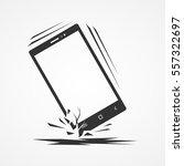 broken smartphone   Shutterstock .eps vector #557322697
