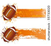 vector football design element | Shutterstock .eps vector #55733020