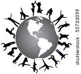 illustration of people jumping... | Shutterstock .eps vector #55733059