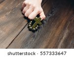religion. beads on a wooden... | Shutterstock . vector #557333647