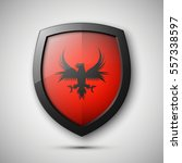 protection shield concept coat... | Shutterstock .eps vector #557338597