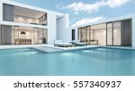 house with pool design minimal  ... | Shutterstock . vector #557340937