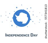 independence day of antarctica. ... | Shutterstock .eps vector #557341813