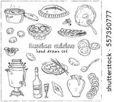 vector hand drawn set of... | Shutterstock .eps vector #557350777