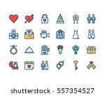 love and wedding icon set | Shutterstock .eps vector #557354527