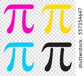 pi sign illustration. cmyk... | Shutterstock .eps vector #557354647
