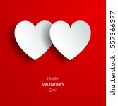 happy valentine day greeting... | Shutterstock .eps vector #557366377