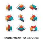 isometric diagrams and charts... | Shutterstock .eps vector #557372053