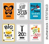 set of sale banner templates | Shutterstock .eps vector #557373613
