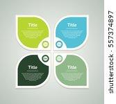 vector infographic design... | Shutterstock .eps vector #557374897
