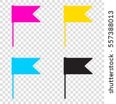 flag sign illustration. cmyk...