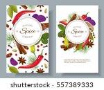 vector spice vertical banners... | Shutterstock .eps vector #557389333